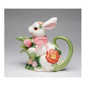 Cute!!!! Bunny Teapot. I collect bunnies..figurines..made out of unusual materials or real cute!