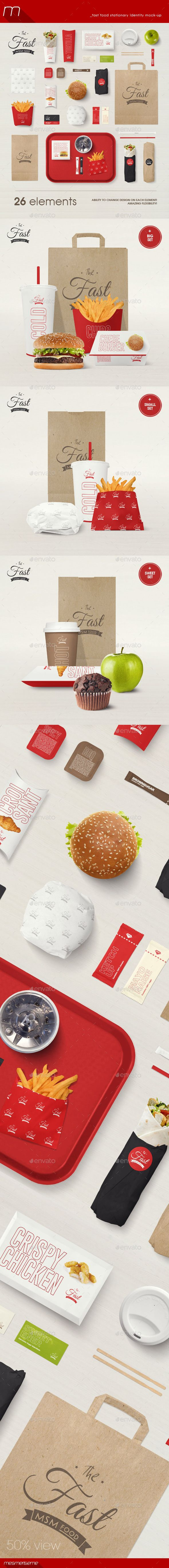 Fast Food Stationary Identity Mock-up | Download: http://graphicriver.net/item/fast-food-stationary-identity-mockup/9988270?ref=ksioks