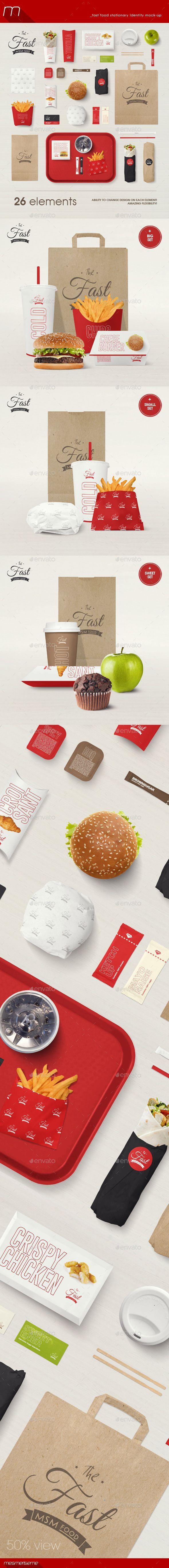 Fast Food Stationary Identity Mock-up | Download: http://graphicriver.net/item/fast-food-stationary-identity-mockup/9988270?ref=ksioks