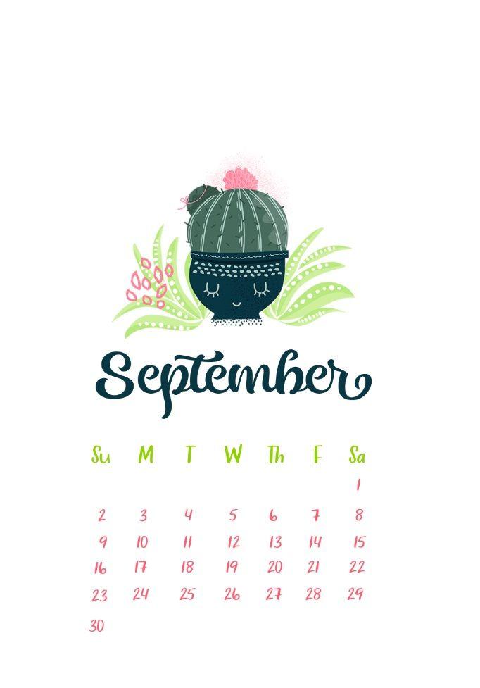 September 2018 Iphone Calendar Wallpapers Calendar Wallpaper September Wallpaper Cute Calendar