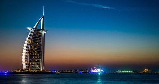 The Burj al Arab at night | Dubai