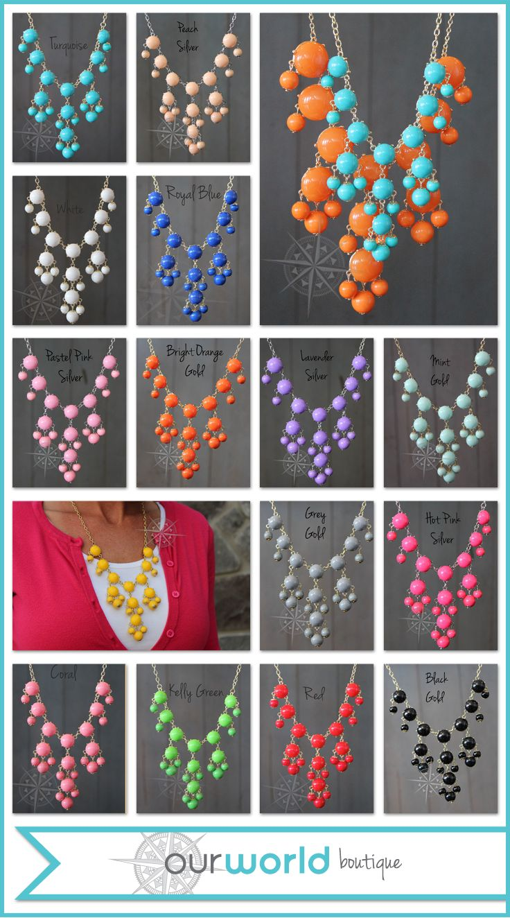 Mini Bubble necklaces are on sale in our Ebay store for $6.99 with FREE shipping.