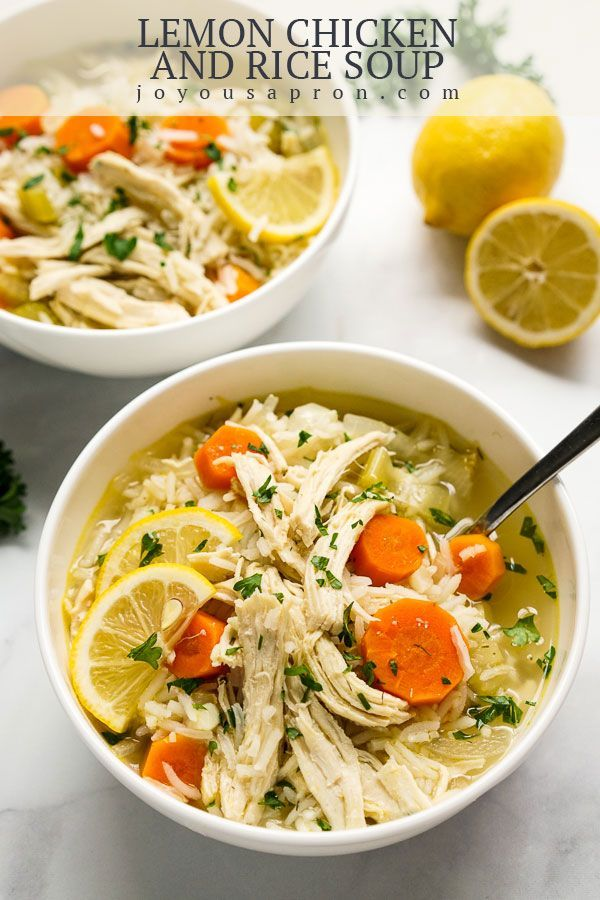 Lemon Chicken And Rice Soup Recipe Healthy Soup Recipes Food One Pot Meals