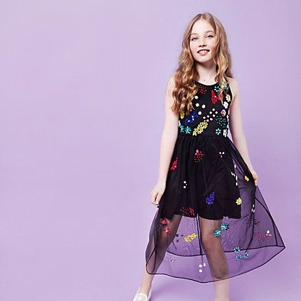 Girls RI Studio black embellished maxi dress £35.00