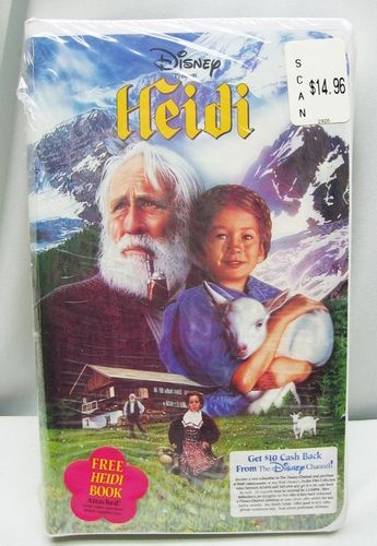 HEIDI Video VHS, 1994 WITH FREE BOOK ATTACHED Movie NEW & SEALED! - FREE SHIP! 765362242030 | eBay