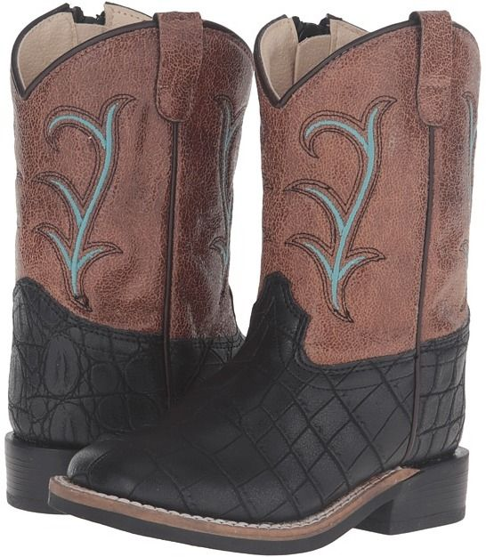 Old West Kids Boots - Square Toe Cowboy Boots
