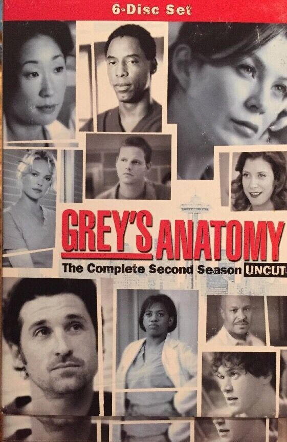 Grey's Anatomy Season 2 Uncut DVD 2006 6-Disc Set