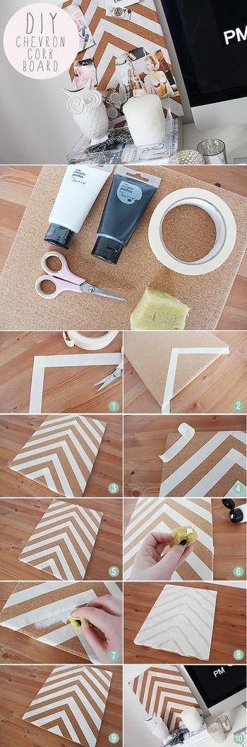 テープとハサミ、そして塗料があれば誰でも出来るDIY法です♪ まずはお好みの柄になるようにテープでマスキング。その後、上からペイントしていくだけでOK! 一番手軽に出来て、とってもオシャレです。