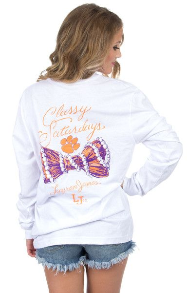 Clemson Classy Saturday Tee - Long Sleeve Back