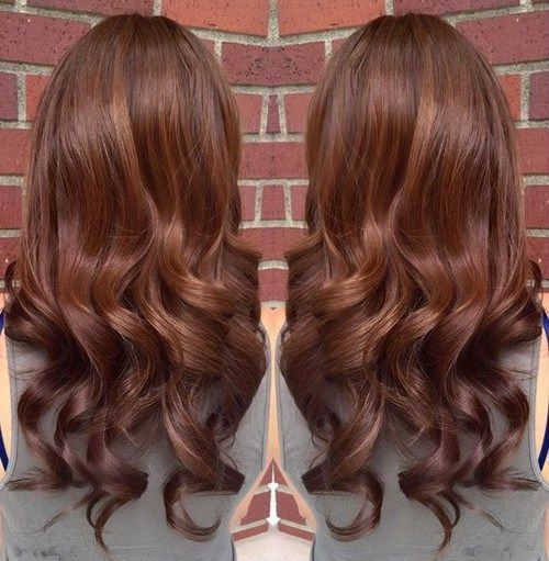 chocolate+brown+hair+with+caramel+highlights