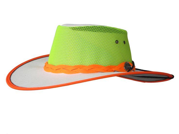 Safety High-Vis Kooler (Mesh& Canvas hat Wide Brim) - True Blue by Jacaru Australia