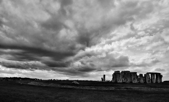 Stonehenge Black and White.  This was photographed while in England travelling, this piece will make a great addition to your collection.