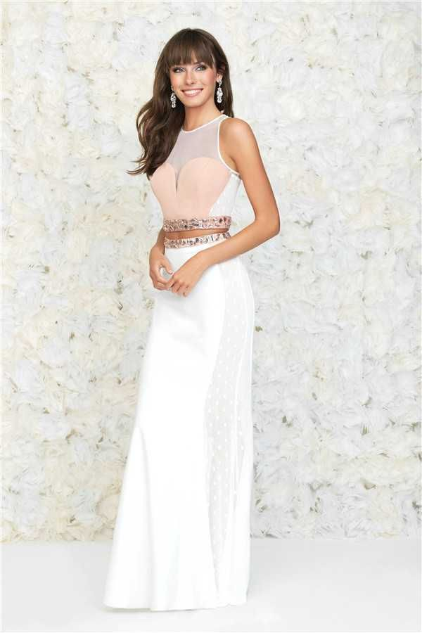 Madison James 15-102 Stones Two Piece Long Prom Dresses 2017