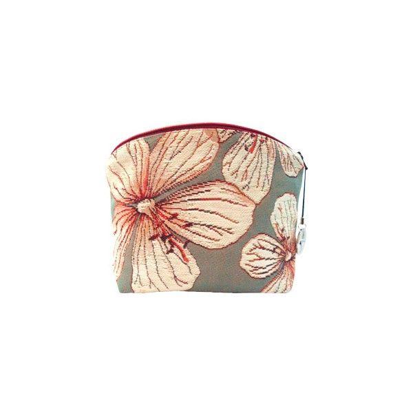 Petite pochette femme rose Géraniums des prés, rouges - Trousses - Art de Lys