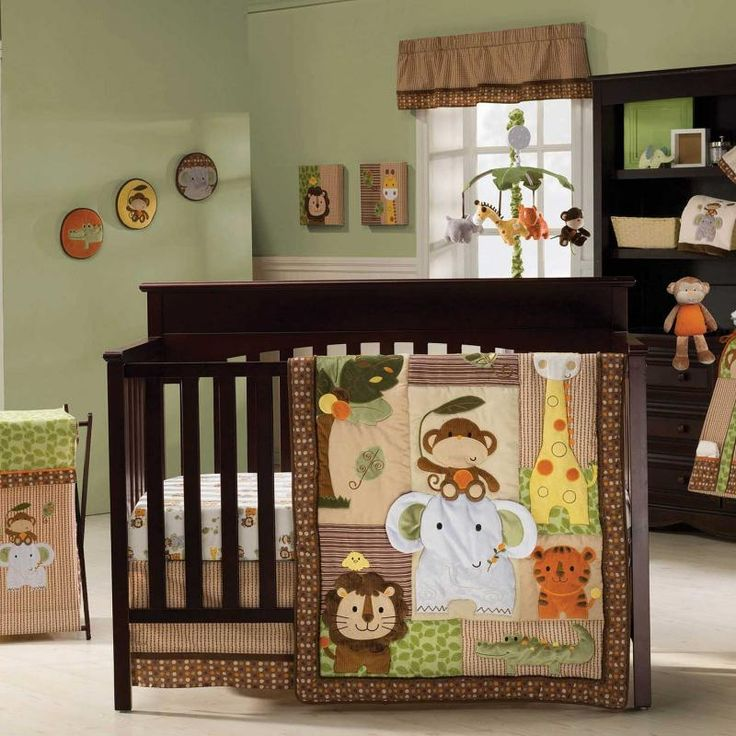 Jungle Walk 4 Piece Baby Crib Bedding Set By Kidsline