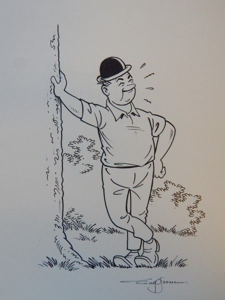 Goossens, Eugeen. Originele tekening Lambik - W.B.