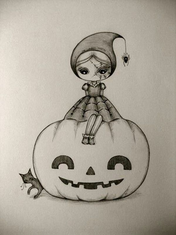 42 Easy Charcoal Drawing Techniques And Ideas To Try Drawings Halloween Drawings Easy Charcoal Drawings