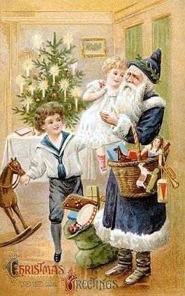 VICTORIAN CHRISTMAS Postcard: