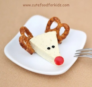 Cute Food For Kids?: Christmas Appetizer Idea: Cheese Reindeers are made from