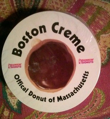 """Dunkin Donuts Deck of Round Cards """"Boston Creme Official Donut of MA"""""""