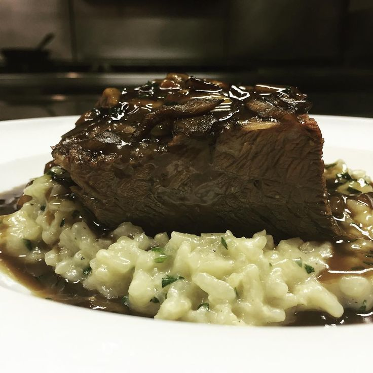 Hump Day Happenings... A Punta Di Petto Pick-Me-Up {Braised Brisket, Wild Mushroom Risotto, Truffle} #glutenfree #italian #nycdining #abboccatonyc