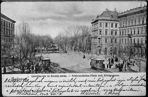 Lövölde tér az 1900-as évek elején - Forrás: www.szm.hu