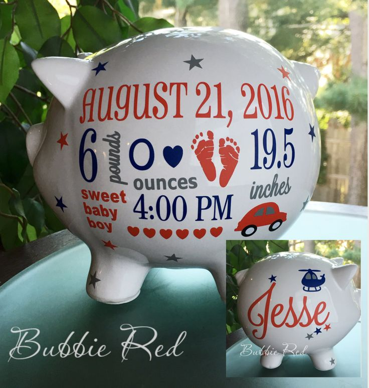 102 best baby gift ideas images on pinterest baby gifts baby personalized piggy bank custom piggy bank baby boy piggy bank baby birth negle Choice Image