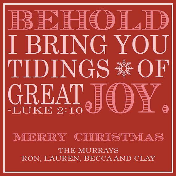 custom bible verse holiday  christmas card  digital file