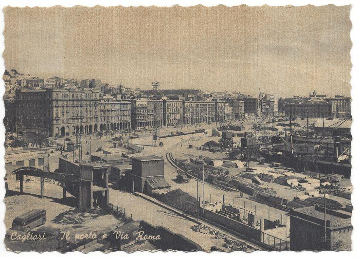 CAGLIARI - Il Porto e Via Roma (anni '40-'50)