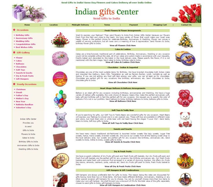 Send Gifts to India With Indiangiftscenter.com