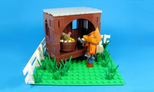 Fox holding up the henhouse.