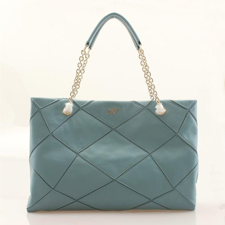 Roger vivier cabas prismick shoulder light blue bag
