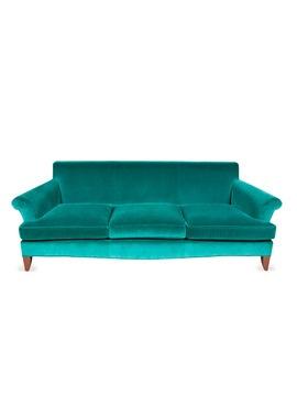 Laura Kirar Green Velvet Sofa