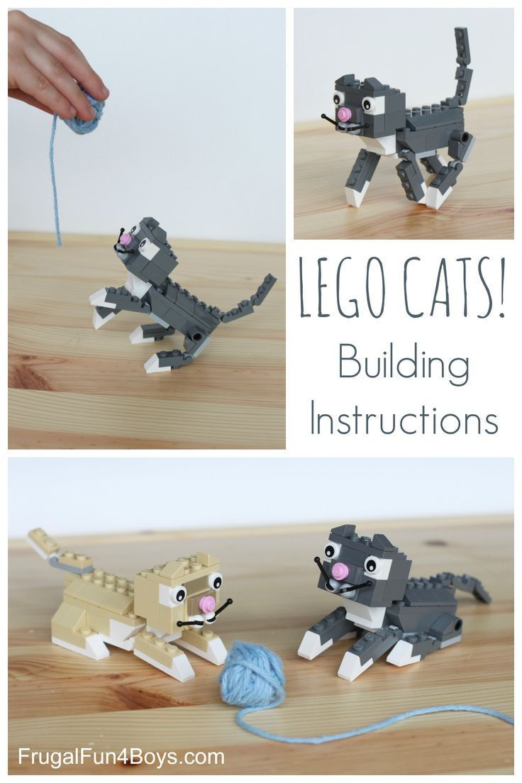 What Could Possibly Be Cuter Than A Real Kitten Probably A Lego Kitten Use These Simple Instructions To Create Your Ow Lego Dog Lego Projects Lego Activities