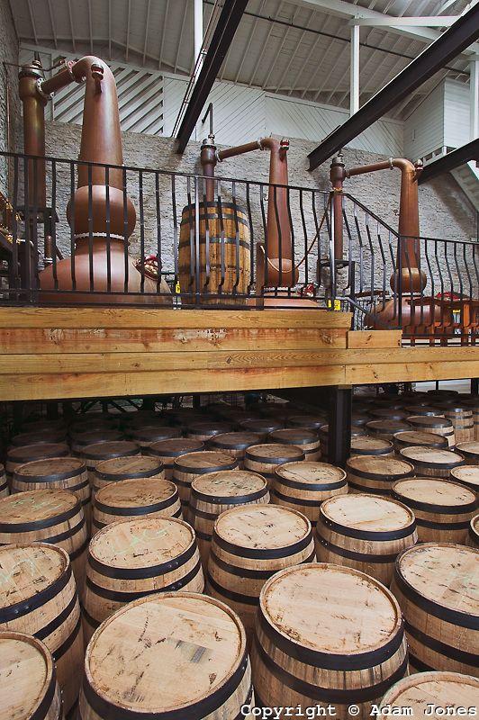 copper stills, Labrot & Graham's bourbon whiskey distillery, Versailles, KY