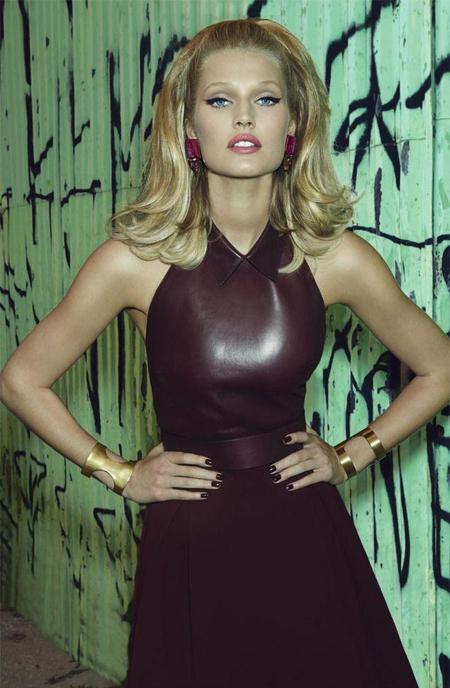 Designer Leather Fashions — Toni Garrn by Henrique Gendre for S Moda - Gucci