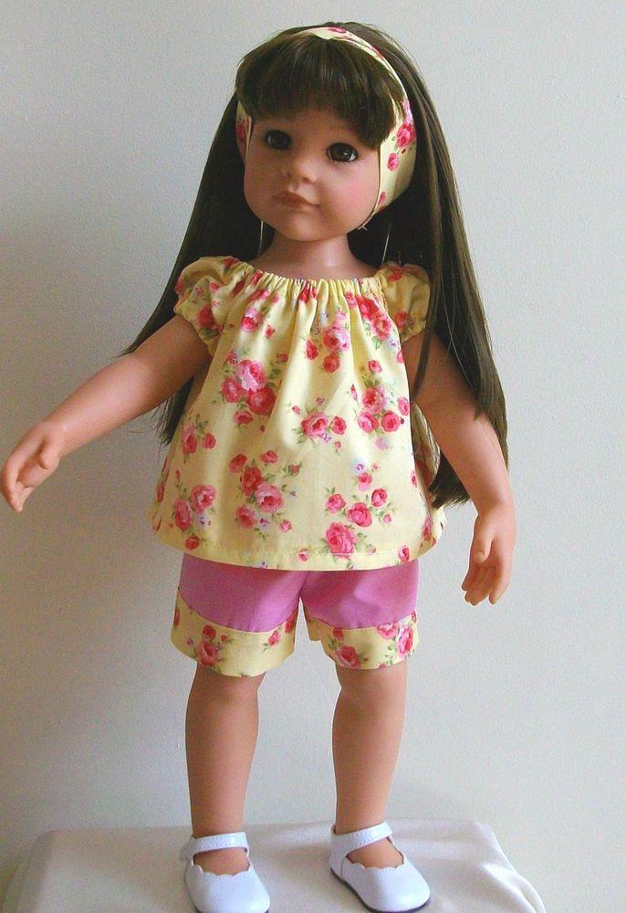 """Vintagebaby gypsy top shorts & alice band for 18"""" doll Designafriend/Gotz hannah"""