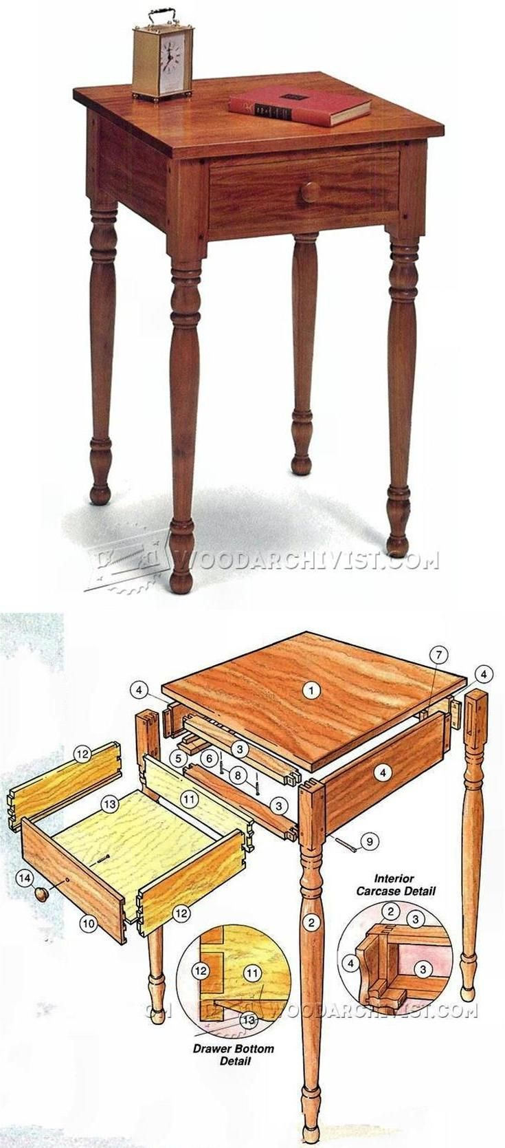 Bedside Table Plans - Furniture Plans and Projects | WoodArchivist.com