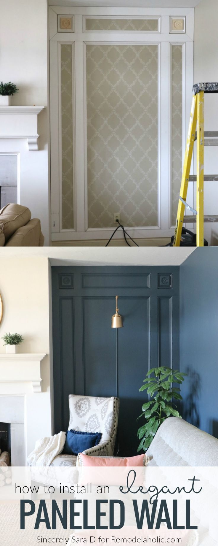 DIY Elegant Paneled Wall Treatment Part 68
