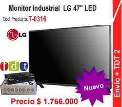 "TV Monitor LED Profesional TV HD 47"" industrial HD LG + Decodificador TDT DVB-T2 Accolombia T-0321"