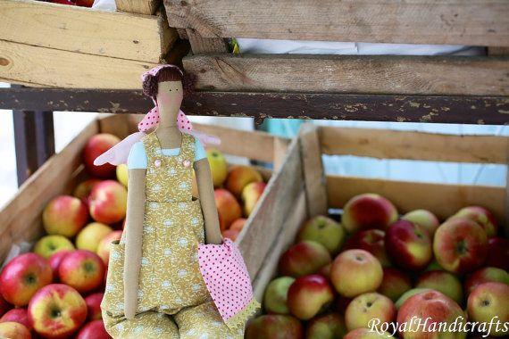 Kitchengarden Angel Tilda Doll Handmade by RoyalHandicrafts