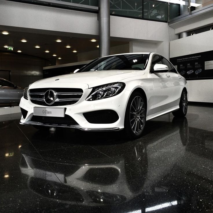 Mirror, mirror on the floor.. what a pretty and sporty little sedan. C-Class AMG Line, just wow!