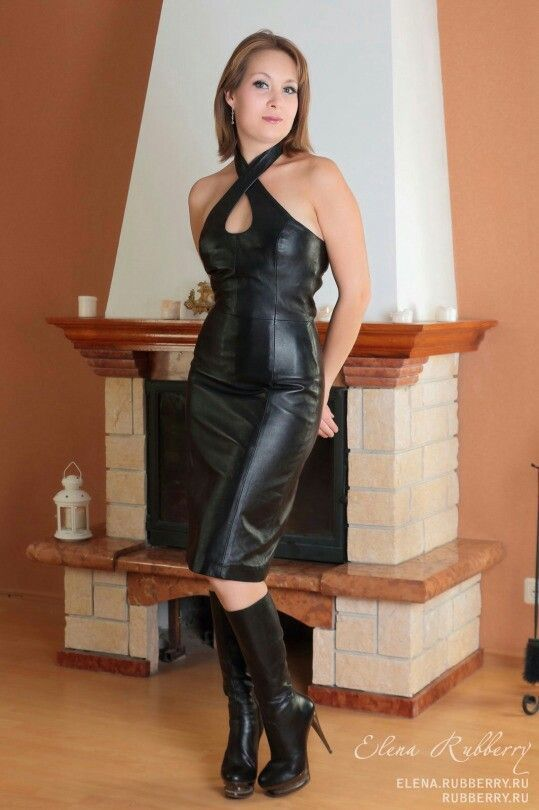 Leather sexy women