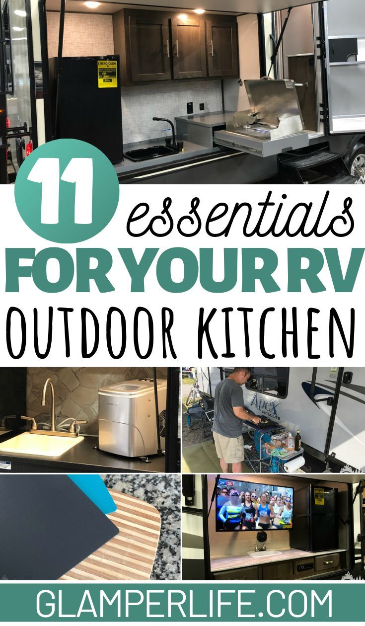 11 Must Haves For An Rv Outdoor Kitchen In 2020 Outdoor Kitchen Kitchen Essentials List Outdoor