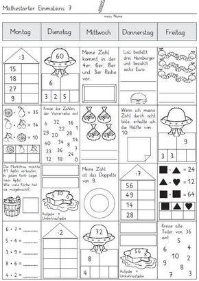 24 besten einmaleins bilder auf pinterest einmaleins multiplikation und grundschulen. Black Bedroom Furniture Sets. Home Design Ideas