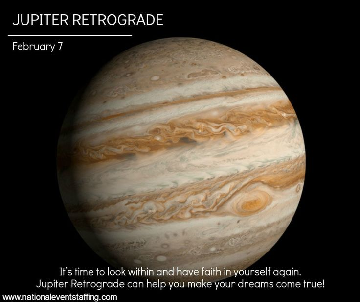 February 7 - Jupiter Retrograde 2017 - Unexpected Luck | This year's Jupiter retrograde is an opportunity to make great leaps towards living out your dreams. |  www.twitter.com/eventstaffing www.nationaleventstaffing.com/jobs www.instagram.com/nationaleventstaffing #jupiter #retrograde #luck #opportunity #happiness #contentment #satisfaction #dreams #plans #future #love #goodfortune #travel #relationship