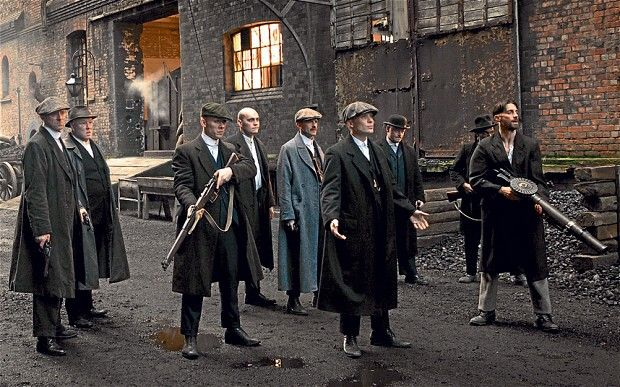 Peaky Blinder | The fellow on the right looks to be carrying a Lewis light machine gun.