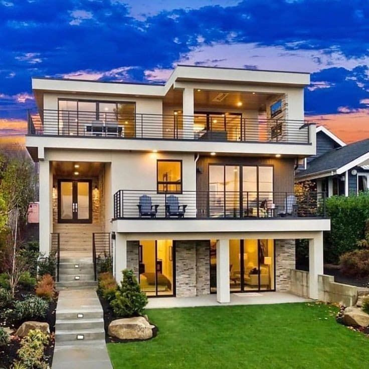 Luxury House Interior Exterior In 2020 Architecture House Home Building Design Bungalow House Design