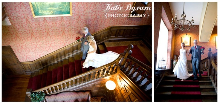 Brides entrance - Ellingham Hall stairs  http://www.photographybykatie.co.uk