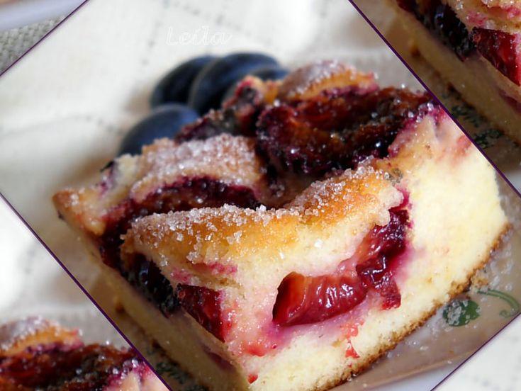 Prajitura rapida cu prune- Szilvas lepeny | Retete Culinare - Bucataresele Vesele